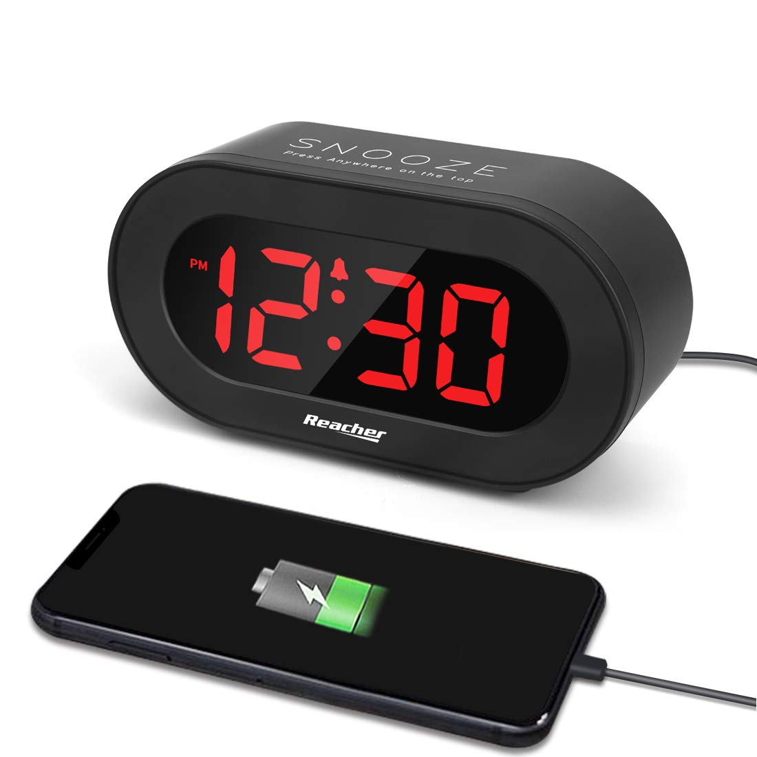 (A1C1)Small LED Digital Alarm Clock with Simple Operation