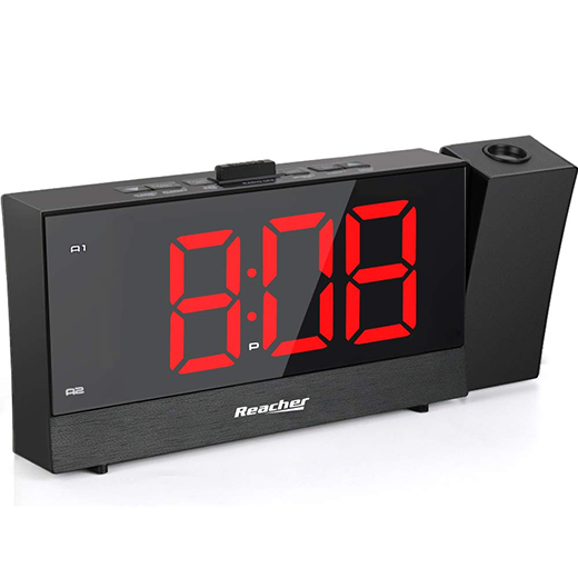 (CRP2)Projection Alarm Clock with Dual Alarm USB 0-100 Dimmer